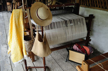 huila: Craft Loom - Fundacion BATAN in San Agustin. Department of Huila. COLOMBIA
