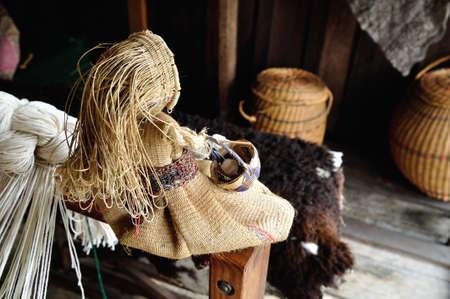 Craft Loom - Fundacion BATAN en San Agustin. Departamento del Huila. COLOMBIA Foto de archivo