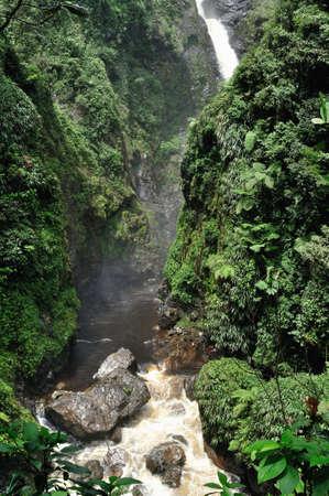 san agustin: Cascada en BORDONES (San Agust�n). Departamento del Huila. COLOMBIA Foto de archivo