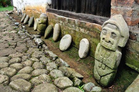 indian artifacts: San Agustin culture pieces- Fundacion Batan in SAN AGUSTIN  Department of Huila  COLOMBIA