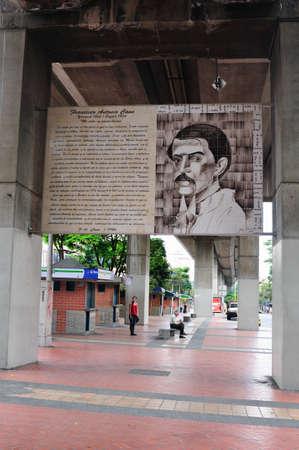 antioquia: Train Station SAN ANTONIO -  Center of  MEDELLIN  Department of Antioquia  COLOMBIA Editorial
