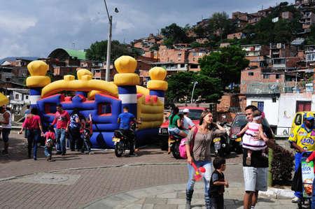 comuna: Santo Domingo district  in MEDELLIN .Department of Antioquia. COLOMBIA Editorial