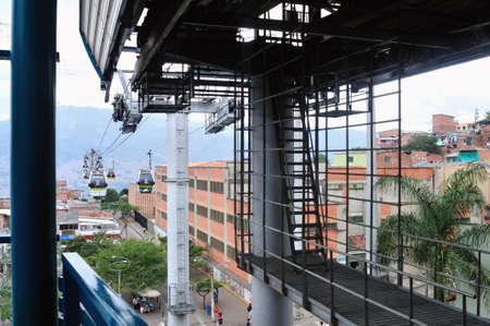 comuna: Metrocable  Station - Santo Domingo district  in MEDELLIN .Department of Antioquia. COLOMBIA