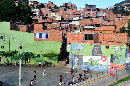 comunas:  Santo Domingo district in MEDELLIN .Department of Antioquia. COLOMBIA Editorial