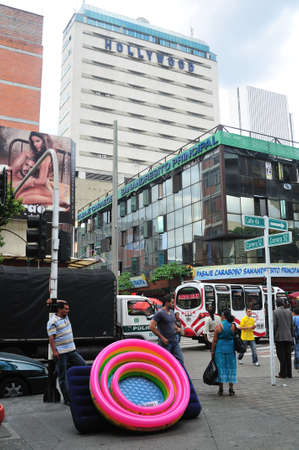 antioquia: Carabobo street in MEDELLIN .Department of Antioquia. COLOMBIA