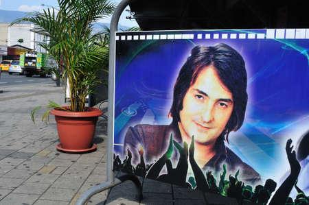 antioquia: Singer Nino Bravo in  San Juan avenue - Center of MEDELLIN .Department of Antioquia. COLOMBIA