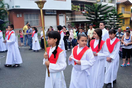 viacrucis: Via crucis - Easter in Buenos Aires district  MEDELLIN - Department of Antioquia. COLOMBIA   Editorial