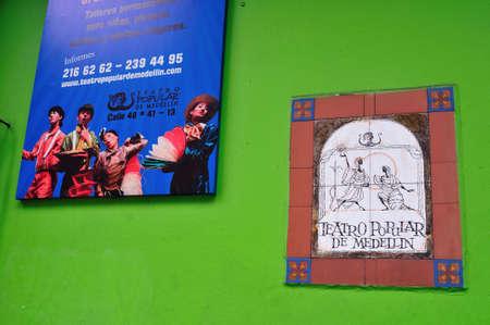 antioquia:  Popular Theater-Ayacucho street in MEDELLIN .Department of Antioquia. COLOMBIA   Editorial