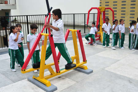 antioquia: Juan XXIII school -  San Javier district in MEDELLIN .Department of Antioquia. COLOMBIA   Editorial