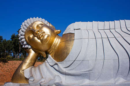 Statue of Buddha lying down photo
