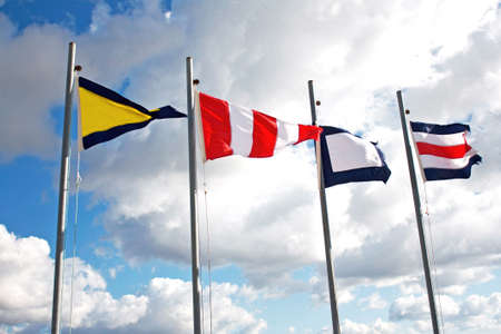 Maritime communication flags photo