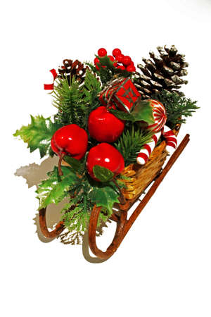 sleigh decorated with Christmas ornaments Stock Photo - 8174112