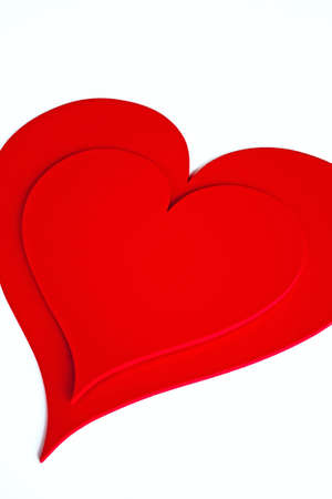 Red hearts isolated on white Stock Photo - 8533440