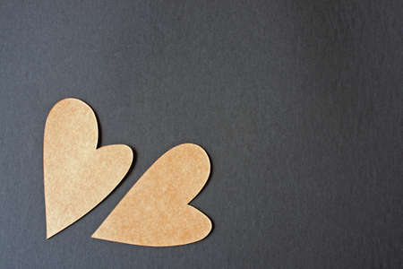Yellow Hearts Valentine's Day with black background Stock Photo - 8688241