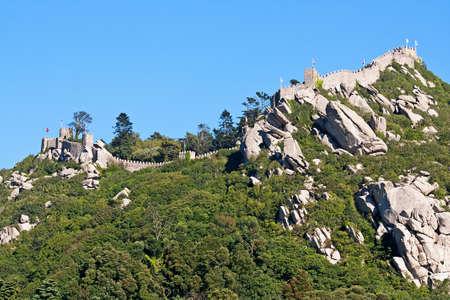 mohammedan: Moorish castle of Sintra in a sunny day