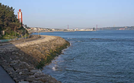 Lighthouse of Gibalta with a beautiful view of Lisbon photo