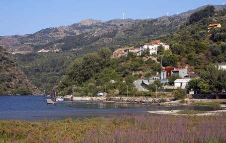 rabelo: Beautiful view of Porto de Rei in Douro river valley, Portugal