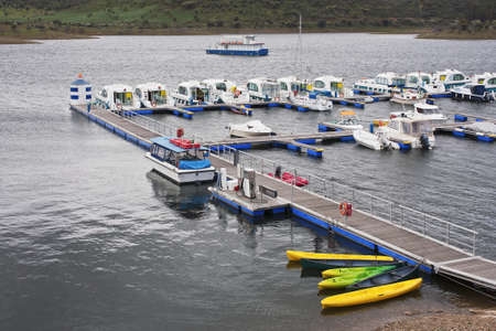 Marina of the Alqueva lake in Alentejo, Portugal