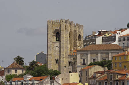 Oldest Cathedral of Lisbon, Portugal (view from Tagus river) photo