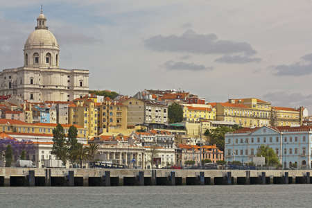 tagus: National Pantheon in Lisbon, Portugal seen from the Tagus River, Portugal