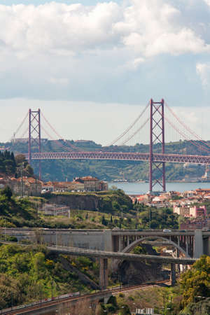 brige: View of Brige in Lisboa, Portugal