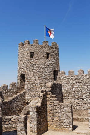West tower of the Moorish Castle in Sintra, Portugal
