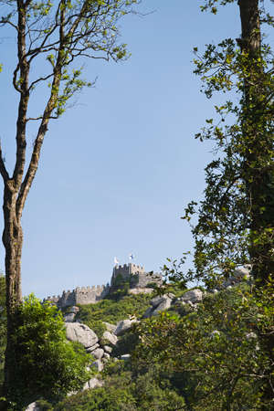 Moorish Castle seen from the south area of the Sintra sierra, Portugal