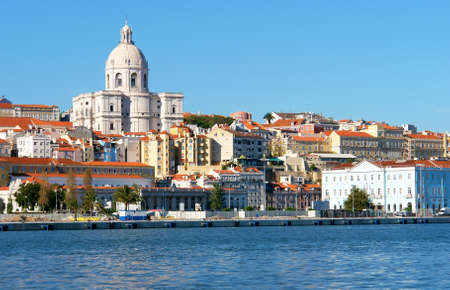 Famous National Pantheon in Lisbon, Portugal  View from Tagus river                            photo