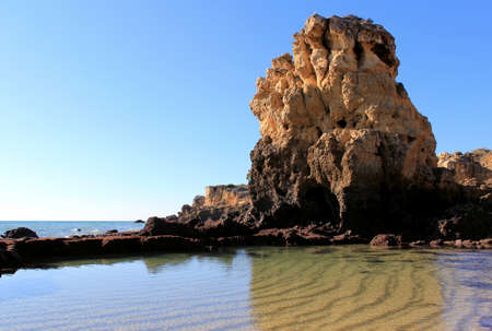 Western Algarve beach scenario (Praia dos Arrifes - Albufeira), Portugal Stock Photo - 15121080