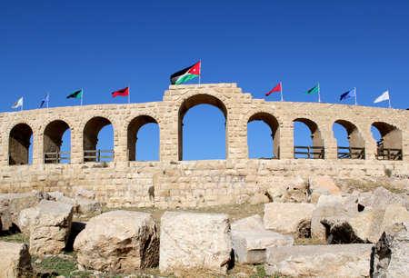 Ruins of the Greco-Roman city of Gerasa  Ancient Jerash, in Jordan