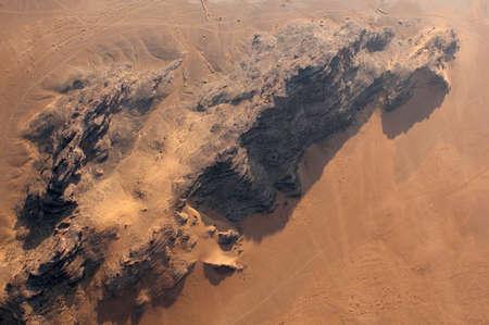 Wadi Rum Desert beautiful landscape from above  Jordan