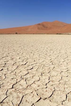 Sossusvlei sand dunes landscape in the Nanib desert near Sesriem, Namibia  Stock Photo