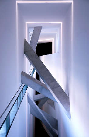 Jewish museum interior detail, Berlin, Germany, project of the architect Daniel Libeskind