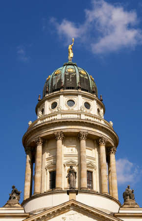 the French Cathedral domme detail, Gendarmenmarkt square, Berlin photo