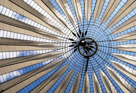 ceiling texture: Futuristic roof at Center, Potsdamer Platz, Berlin, Germany   Editorial
