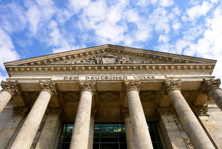 Detail of The Reichstag, the German Parliament, in Berlin, Germany