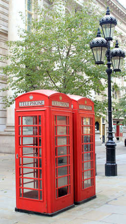 London famous public telephone booth. United Kingdom photo