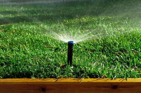 lawn sprinkler: Garden irrigation system watering lanw