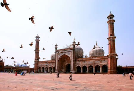 Jama Masjid Mosque, old Delhi, India. photo