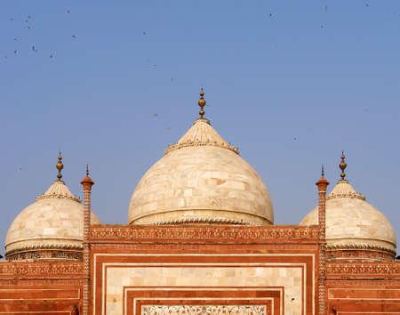 love dome: Taj Mahal Mosque detail, Agra, India Stock Photo