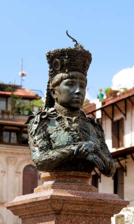 valley of the temples: Durbar Square statue - Hindu temples in the ancient city, valley of Kathmandu. Nepal