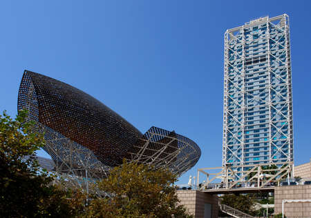 Modern architecture at Barcelona Olympic Port, Spain
