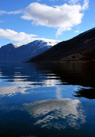 Scenic image and reflections on a Norway fjord                                Stock Photo - 15853058