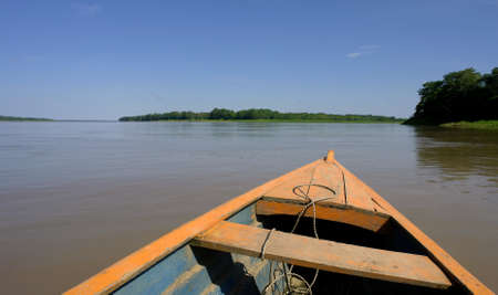 Amazon river landscape, near Leticia (Colombia-Brazil-Peru border triangle)                                   photo