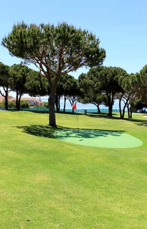 Training golf course in the Algarve coastline landscape  Portugal photo