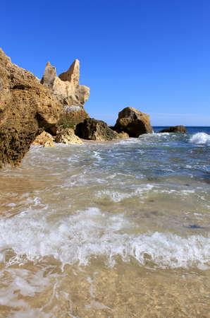 Western Algarve beach scenario (Praia do Chiringuito - Albufeira), Portugal Stock Photo - 15854322