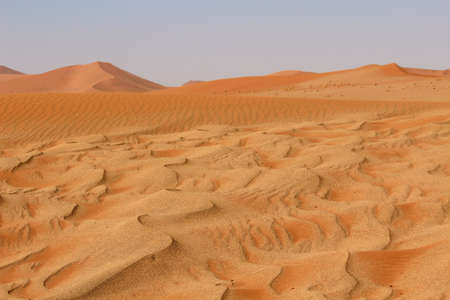 Sossusvlei sand dunes landscape in the Nanib desert near Sesriem, Namibia  photo