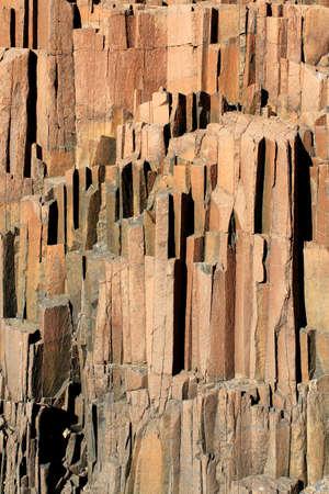 obrero: Los tubos de �rgano, una formaci�n geol�gica de rocas volc�nicas en la forma de dar el nombre de tubos de �rgano situado en Damaraland, Namibia Foto de archivo
