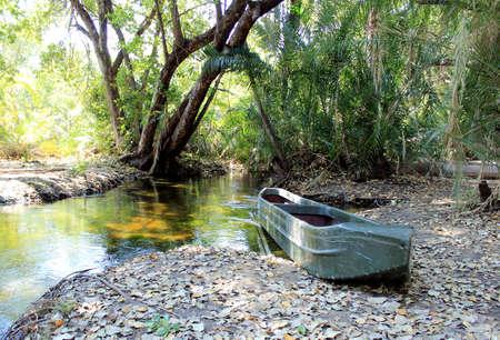 traditional Okavango Delta mokoro canoe  North of Botswana