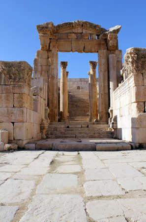 Ruinas de la ciudad grecorromana de Gerasa. Ancient Jerash, en Jordania.